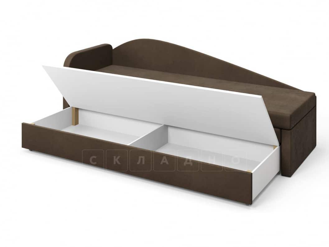 Диван софа Верди коричневый левый фото 5 | интернет-магазин Складно