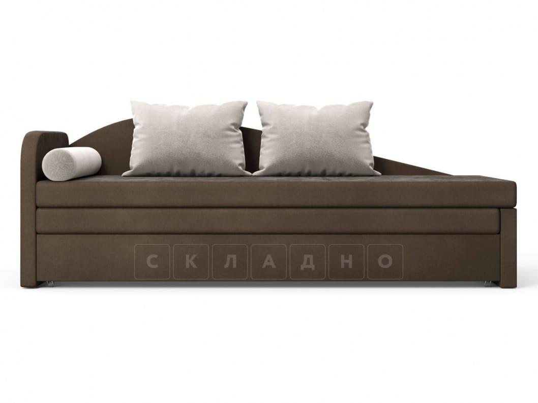 Диван софа Верди коричневый левый фото 2 | интернет-магазин Складно