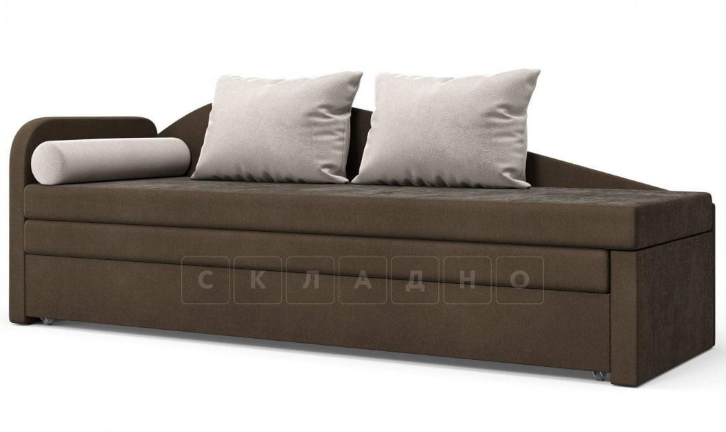Диван софа Верди коричневый левый фото 1 | интернет-магазин Складно
