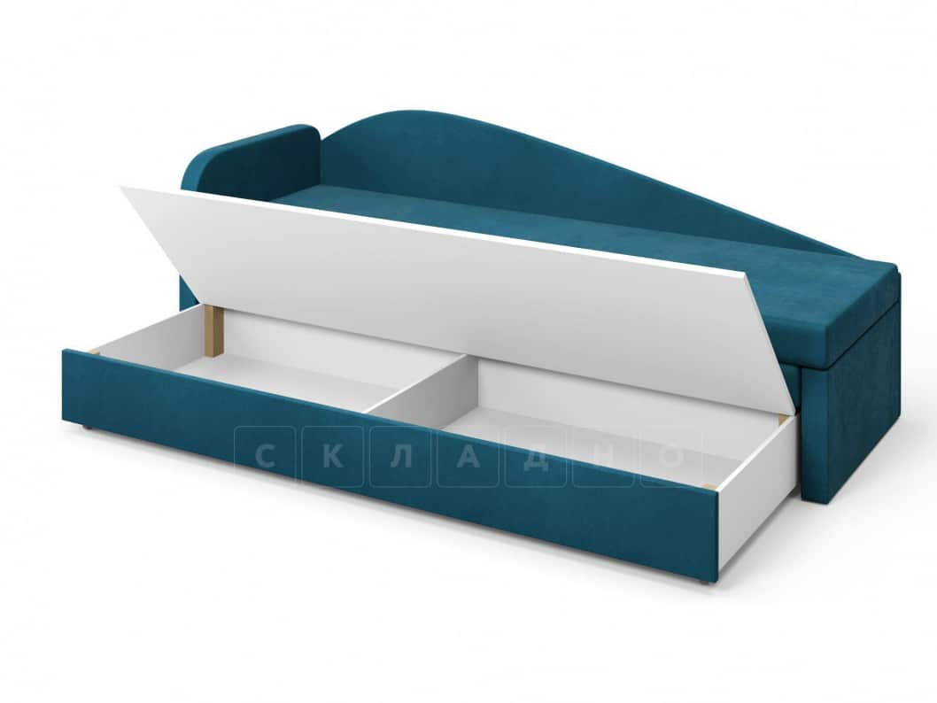 Диван софа Верди синий левый фото 5 | интернет-магазин Складно