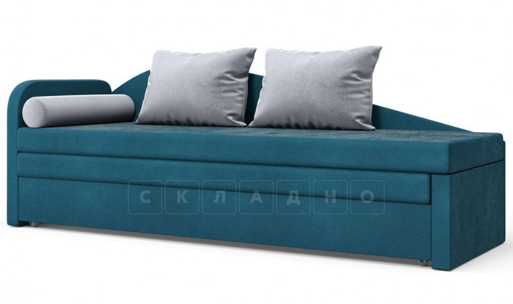 Диван софа Верди синий левый фото 1 | интернет-магазин Складно