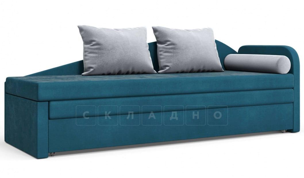 Диван софа Верди синий правый фото 1 | интернет-магазин Складно