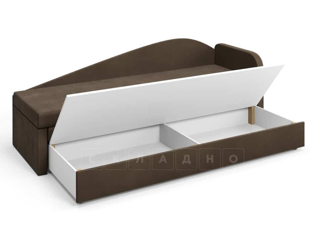 Диван софа Верди коричневый правый фото 5 | интернет-магазин Складно