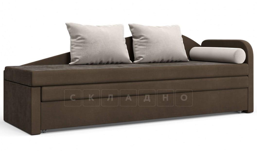 Диван софа Верди коричневый правый фото 1 | интернет-магазин Складно