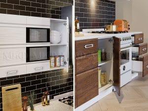 Кухонный гарнитур Техно-2 18540 рублей, фото 2 | интернет-магазин Складно