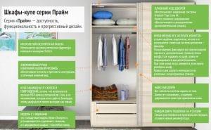 Шкаф-купе Прайм трехдверный ширина 180 см с тремя зеркалами 26290 рублей, фото 7 | интернет-магазин Складно