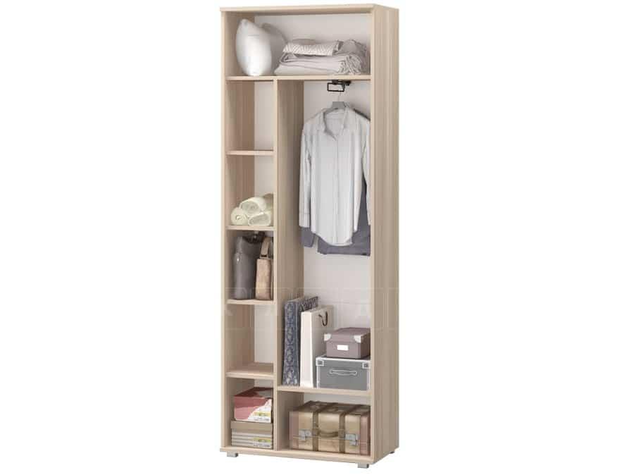 Шкаф комбинированный Визит-9 со штангой и полками фото 2 | интернет-магазин Складно