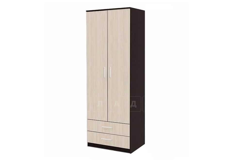 Шкаф с полками для одежды МШ-02 без рамки мдф фото 1 | интернет-магазин Складно