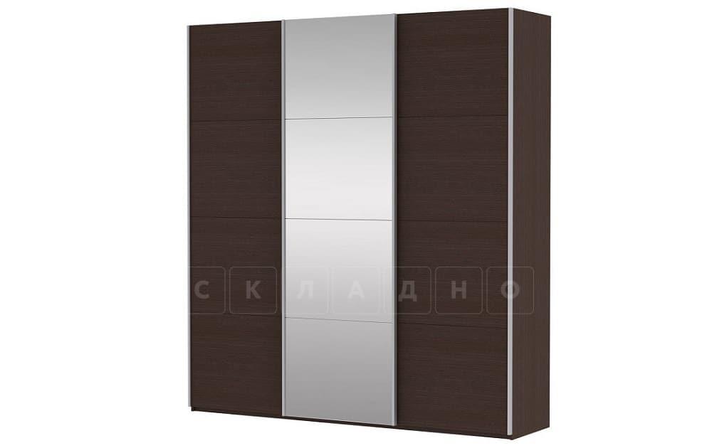 Шкаф-купе Прайм трехдверный ширина 180 см с одним зеркалом фото 4 | интернет-магазин Складно