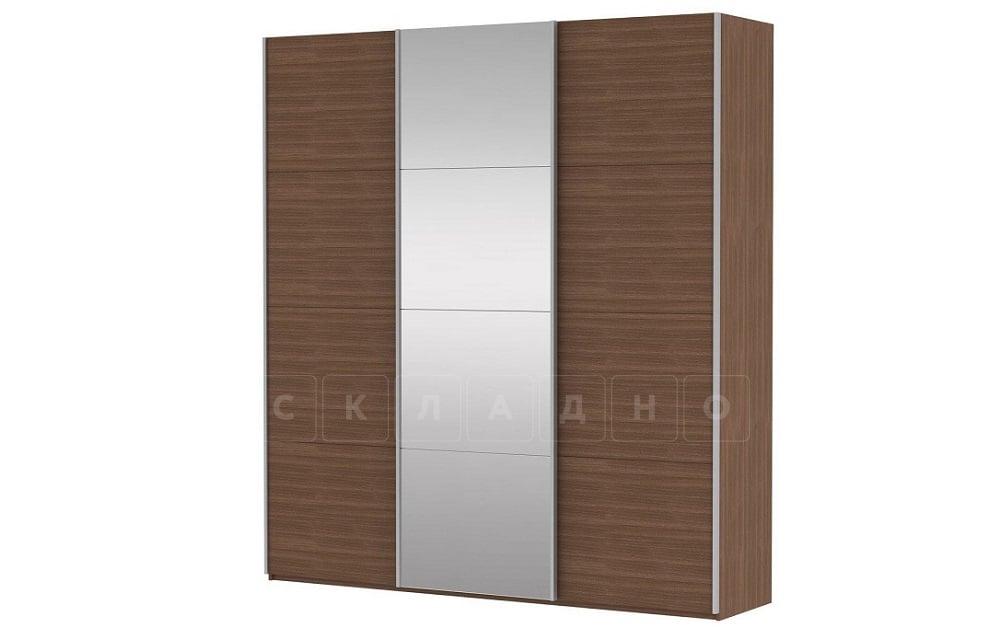 Шкаф-купе Прайм трехдверный ширина 180 см с одним зеркалом фото 5 | интернет-магазин Складно