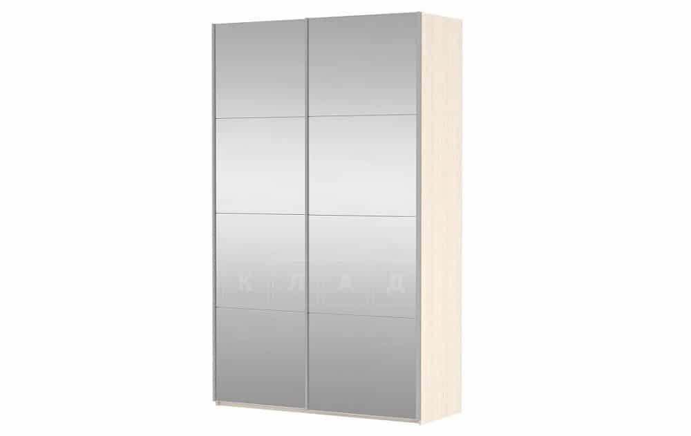 Шкаф-купе Прайм двухдверный ширина 120 см с двумя зеркалами фото 1 | интернет-магазин Складно