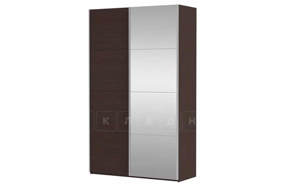 Шкаф-купе Прайм двухдверный ширина 120 см с одним зеркалом фото 4 | интернет-магазин Складно