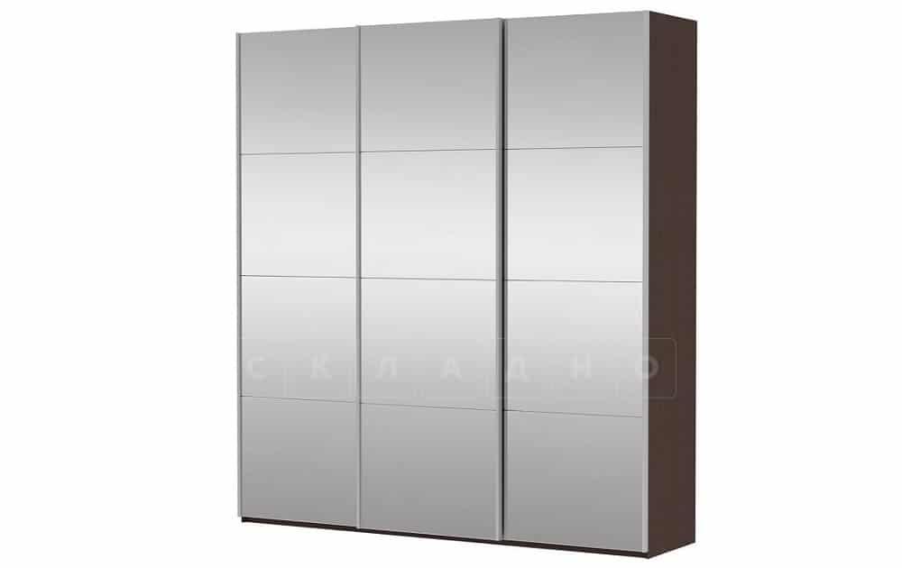 Шкаф-купе Прайм трехдверный ширина 210 см с тремя зеркалами фото 1 | интернет-магазин Складно