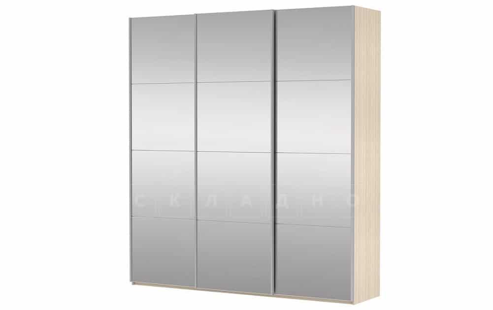 Шкаф-купе Прайм трехдверный ширина 210 см с тремя зеркалами фото 4 | интернет-магазин Складно