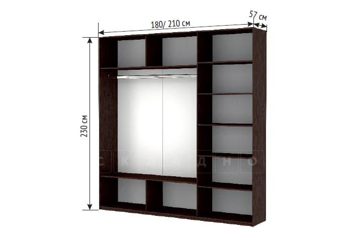 Шкаф-купе Прайм трехдверный ширина 180 см с тремя зеркалами фото 3 | интернет-магазин Складно