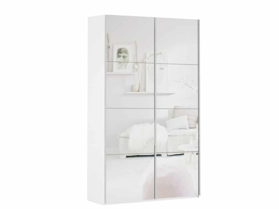 Шкаф-купе Прайм двухдверный ширина 160 см с двумя зеркалами фото 1 | интернет-магазин Складно