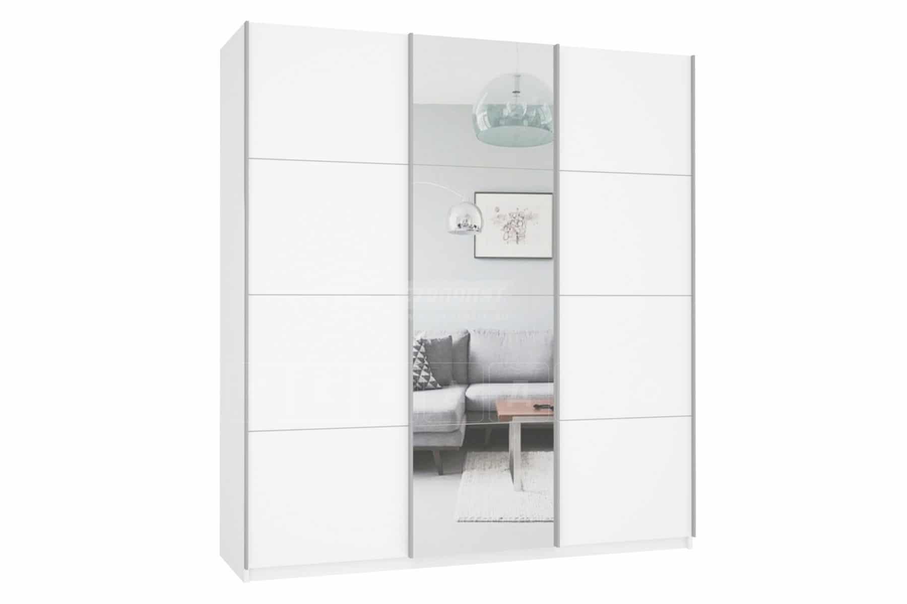 Шкаф-купе Прайм трехдверный ширина 180 см с одним зеркалом фото 1 | интернет-магазин Складно