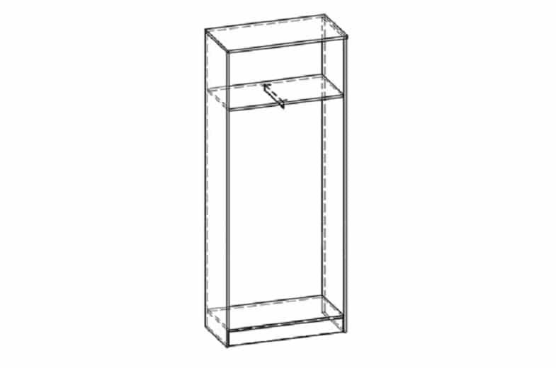Шкаф платяной МШ-01 с антресолью с рамкой мдф фото 2 | интернет-магазин Складно