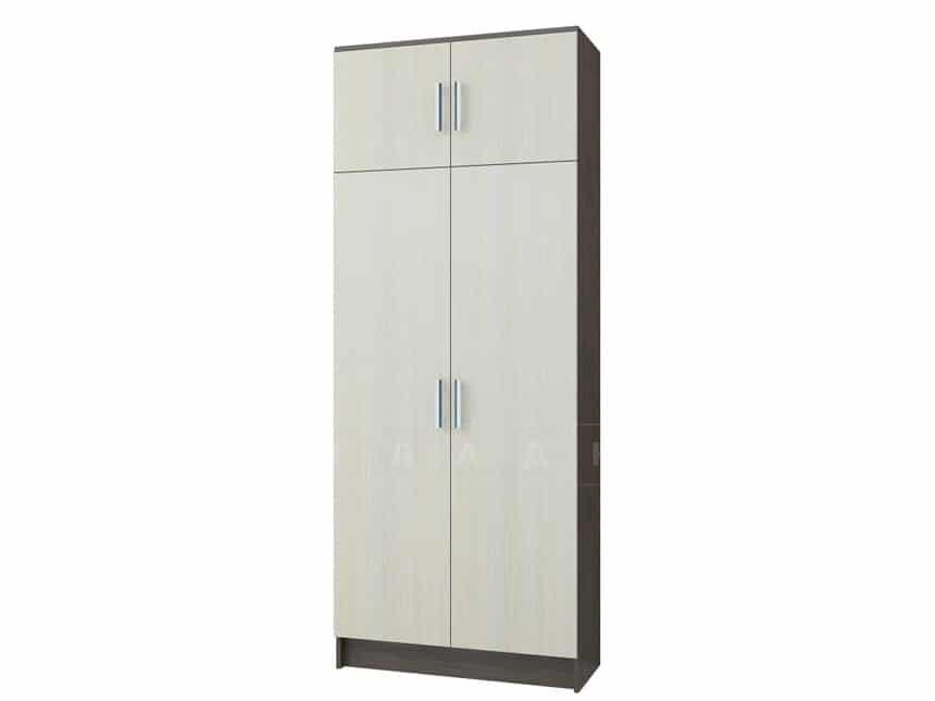 Шкаф платяной МШ-01 с антресолью без рамки мдф фото 1 | интернет-магазин Складно