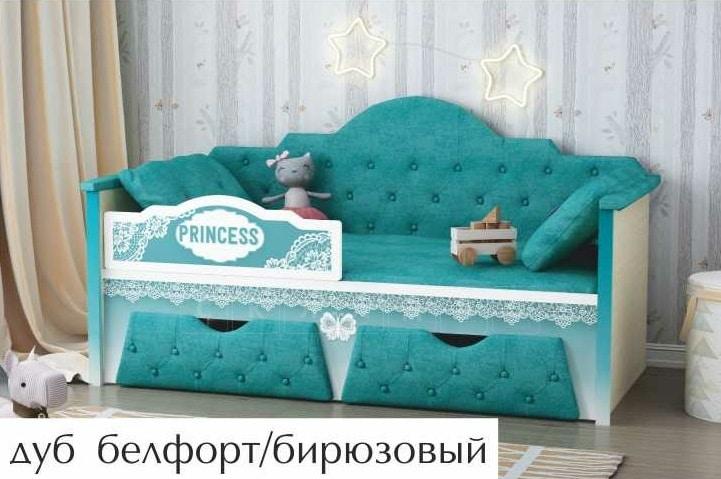 Детская кровать Принцесса 160 см фото 4 | интернет-магазин Складно