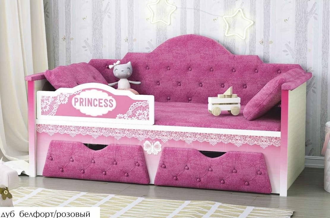 Детская кровать Принцесса 160 см фото 5 | интернет-магазин Складно