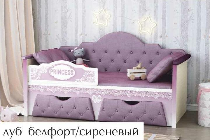 Детская кровать Принцесса 160 см фото 1 | интернет-магазин Складно