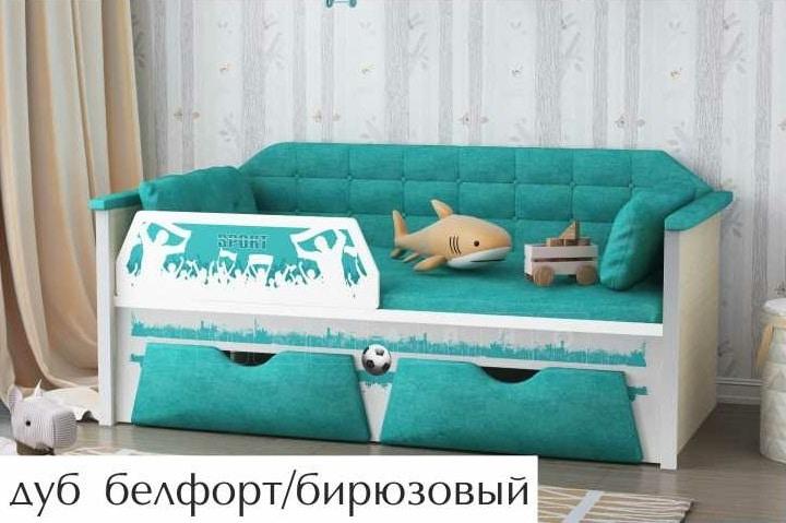 Детская кровать Спорт 180 см фото 1 | интернет-магазин Складно
