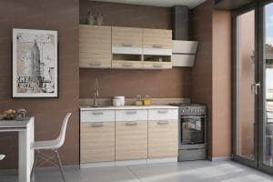Кухонный навесной шкаф Эра ШВСГ80 горизонтальный со стеклом 2170 рублей, фото 2 | интернет-магазин Складно
