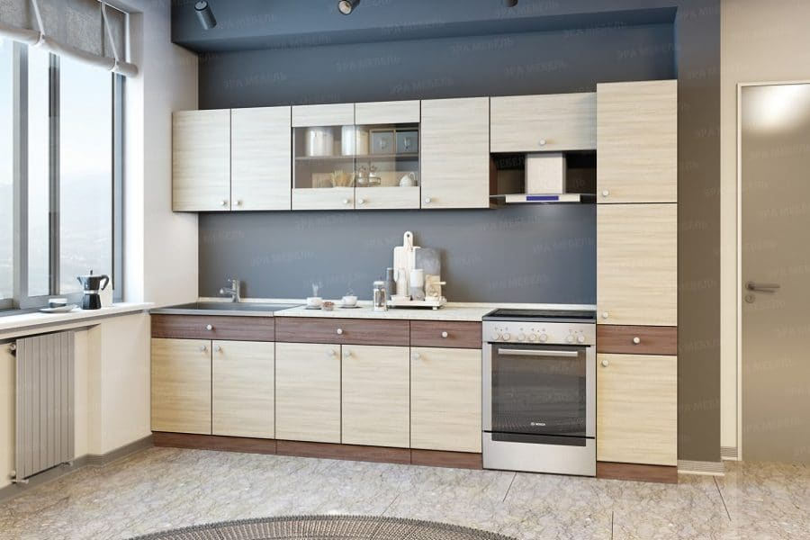 Кухонный гарнитур Шимо 3,0 м с пеналом фото | интернет-магазин Складно