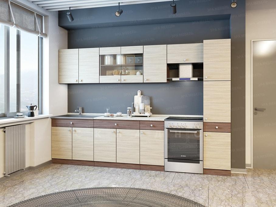 Кухонный гарнитур Шимо 3,0 м с пеналом фото 1 | интернет-магазин Складно