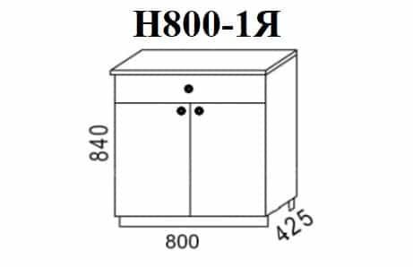 Кухонный шкаф напольный Шимо ШН80 с 1 ящиком фото 1 | интернет-магазин Складно