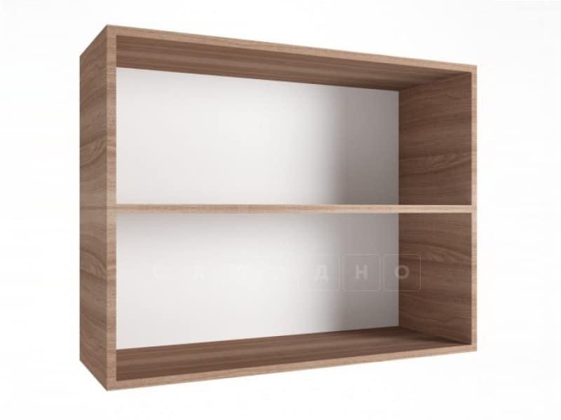 Кухонный навесной шкаф со стеклом Шимо ШВС80 фото 2 | интернет-магазин Складно
