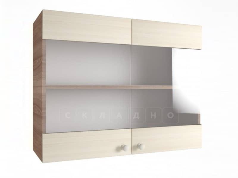 Кухонный навесной шкаф со стеклом Шимо ШВС80 фото 1 | интернет-магазин Складно