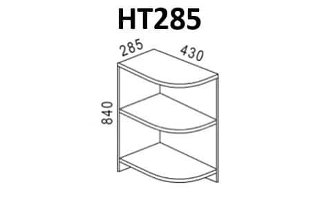 Кухонный шкаф напольный торцевой открытый Эра НТ285 левый фото 1 | интернет-магазин Складно