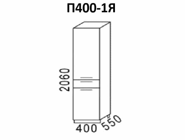 Кухонный напольный пенал Эра П40 с 1 ящиком фото 1 | интернет-магазин Складно