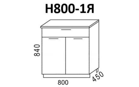 Кухонный шкаф напольный Эра ШН80 с 1 ящиком фото 1 | интернет-магазин Складно