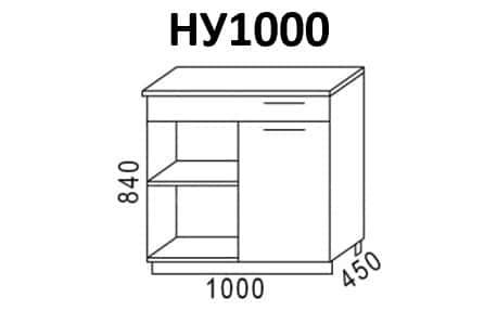 Кухонный шкаф напольный угловой Эра ШНУ100 фото 1 | интернет-магазин Складно