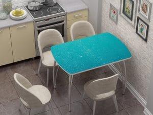 Стол нераздвижной стеклянный Бочонок с фотопечатью Бриз-10935 фото | интернет-магазин Складно