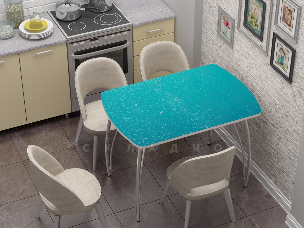Стол нераздвижной стеклянный Бочонок с фотопечатью Бриз фото 1 | интернет-магазин Складно