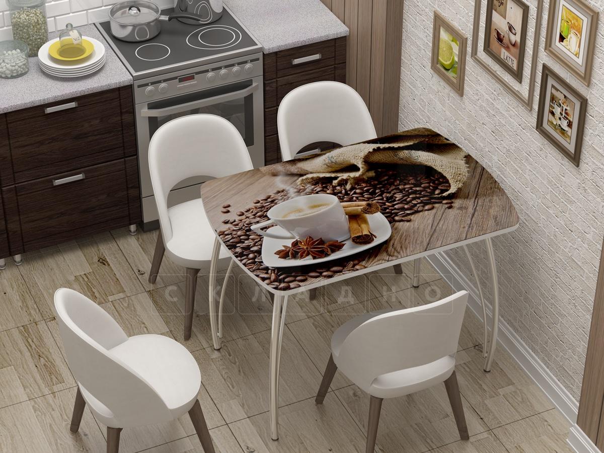 Стол нераздвижной Бочонок с фотопечатью Кофе фото 1 | интернет-магазин Складно