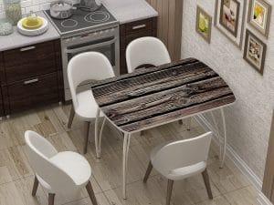 Стол нераздвижной стеклянный Бочонок с фотопечатью Дерево-10933 фото | интернет-магазин Складно