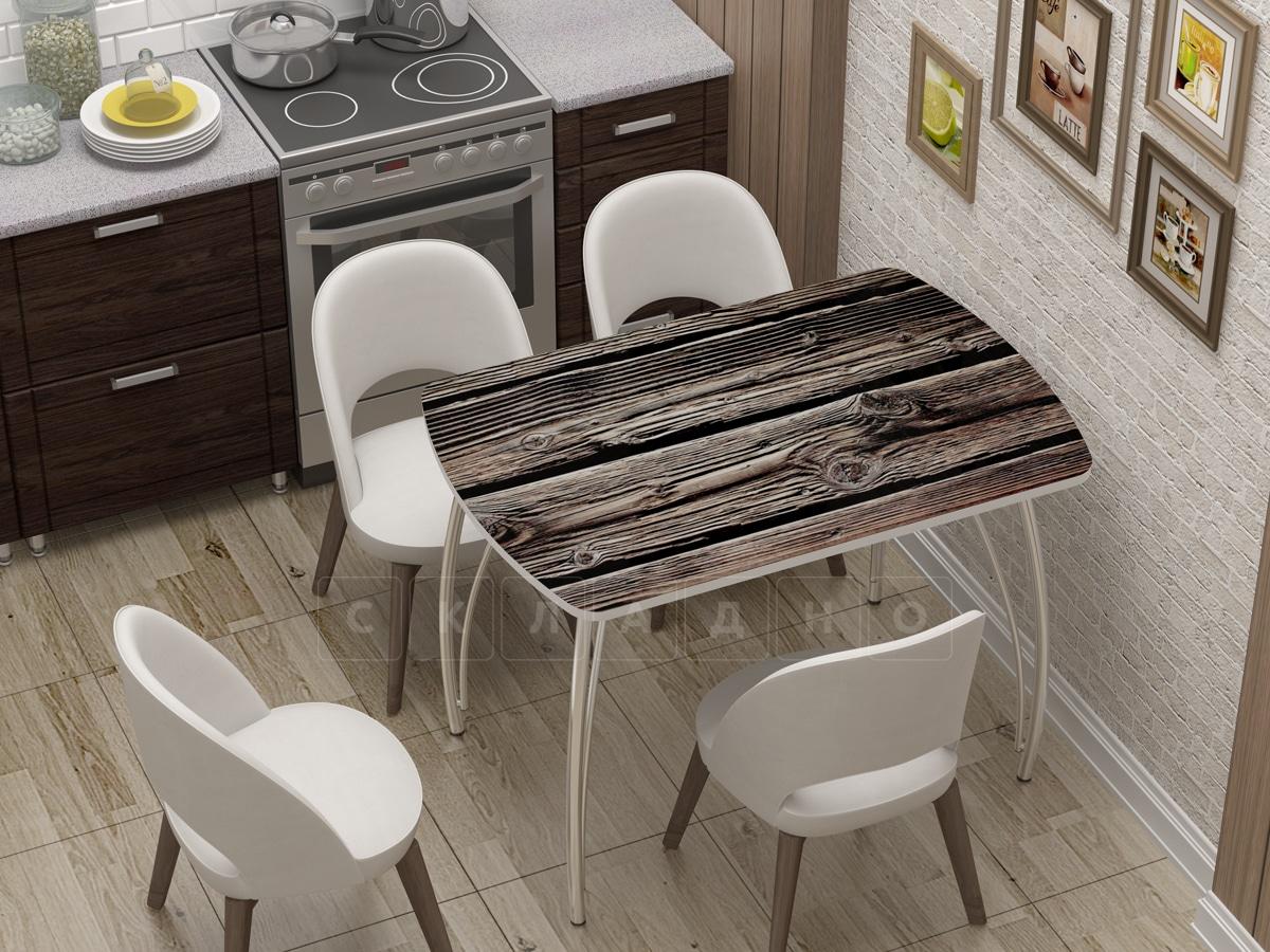 Стол нераздвижной стеклянный Бочонок с фотопечатью Дерево фото 1 | интернет-магазин Складно