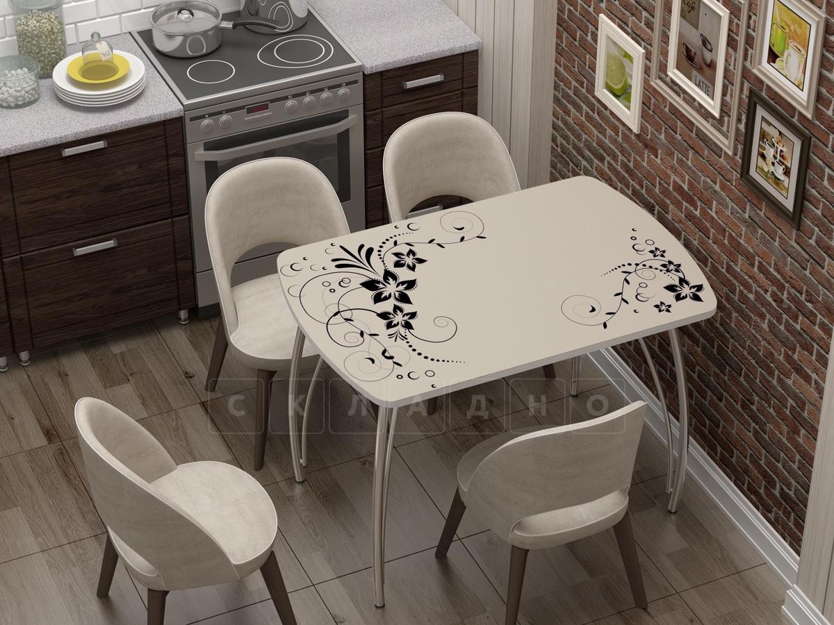 Стол нераздвижной Бочонок с фотопечатью Индиго фото 1 | интернет-магазин Складно