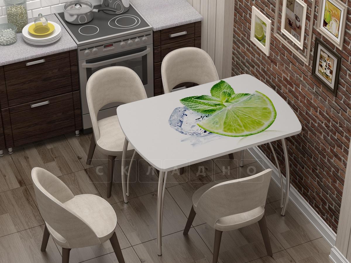 Стол нераздвижной Бочонок с фотопечатью Лайм фото 1 | интернет-магазин Складно