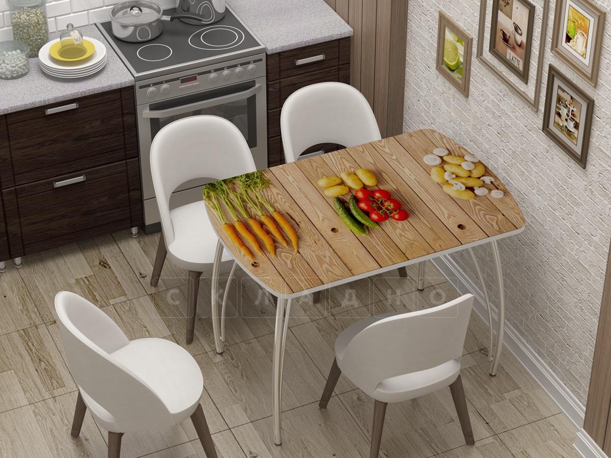 Стол нераздвижной Бочонок с фотопечатью Овощи фото 1 | интернет-магазин Складно