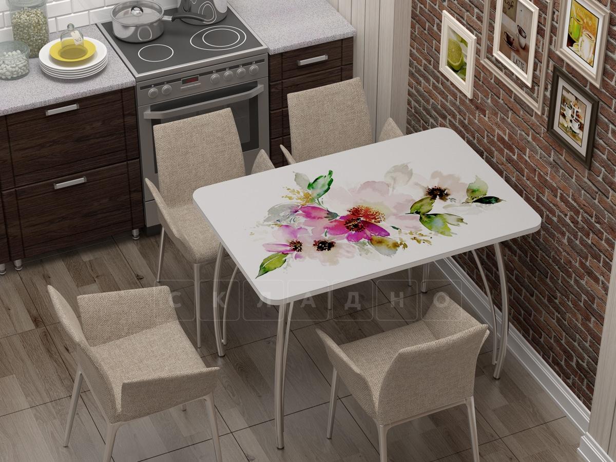 Стол нераздвижной стеклянный с фотопечатью Акварель фото 1 | интернет-магазин Складно