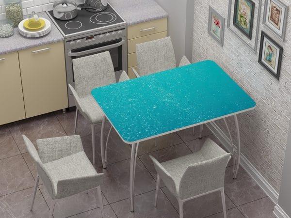 Стол нераздвижной стеклянный с фотопечатью Бриз фото | интернет-магазин Складно