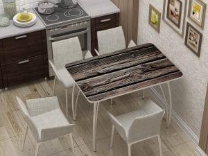 Стол нераздвижной стеклянный с фотопечатью Дерево-10892 фото | интернет-магазин Складно