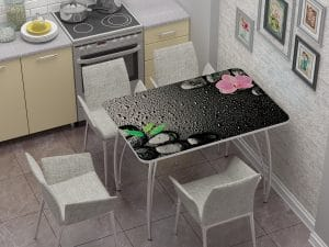 Стол нераздвижной стеклянный с фотопечатью Гармония-10890 фото | интернет-магазин Складно