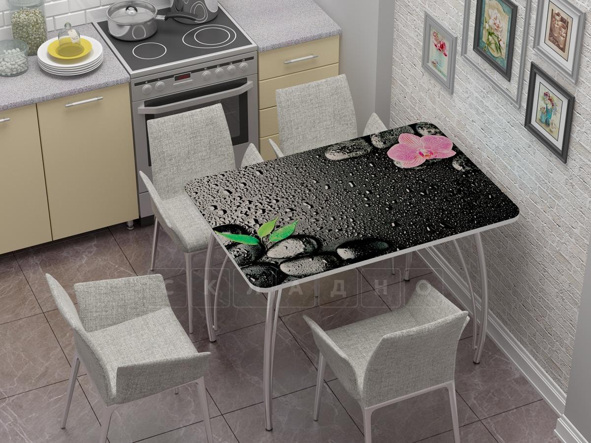 Стол нераздвижной стеклянный с фотопечатью Гармония фото 1 | интернет-магазин Складно